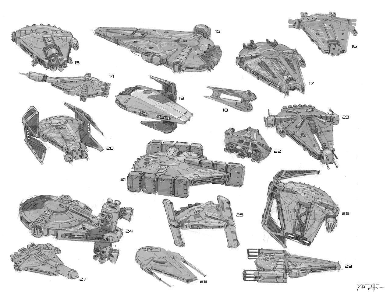 Designing The Solo A Star Wars Story Millennium Falcon
