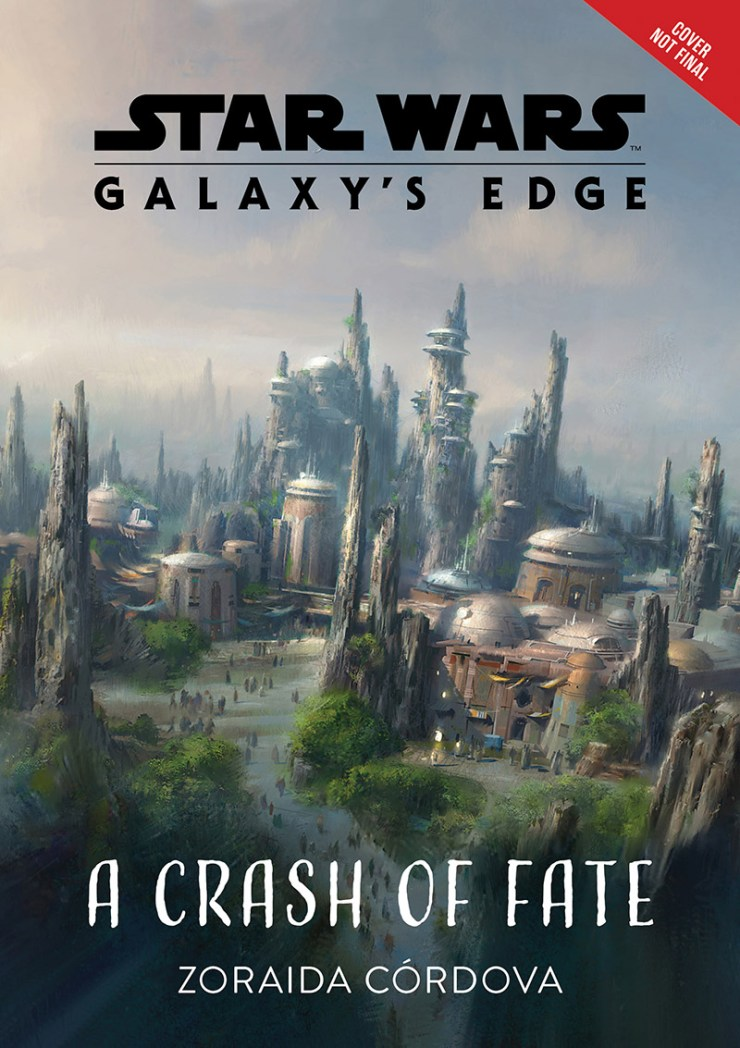The cover for Star Wars: Galaxy's Edge A Crash of Fate.