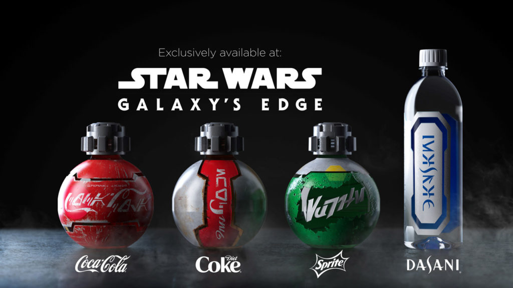 Star Wars: Galaxy's Edge Coca-Cola continuing their strong partnership with Disney