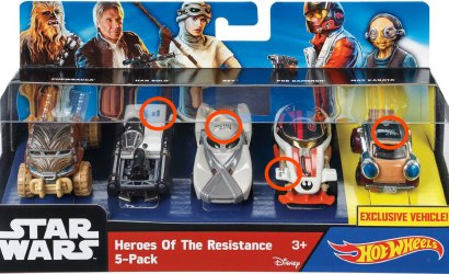 Hot Wheels Star Wars Heroes of the Resistance 5-Pack – Bild der Box aufgetaucht