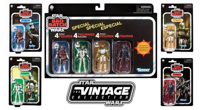 Hasbro revela un set exclusivo de 4 figuras Vintage Collection inspiradas en The Bad Batch