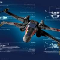 X-Wing Blueprint Wallpaper