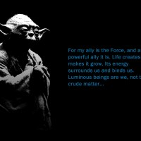 Yoda Famous Quote Wallpaper