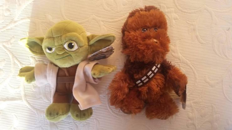 Cute Yoda and Chewbacca Dolls 1