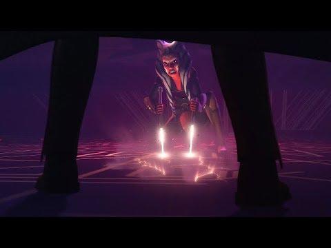 Star Wars Rebels Ezra Saves Ahsoka Tano from Darth Vader HD