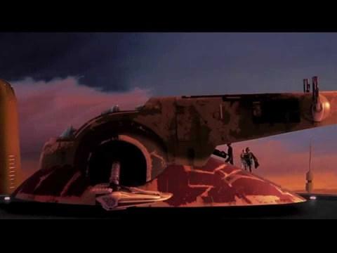 The Empire Strikes Back   Boba Fett Escapes Cloud City (Full)