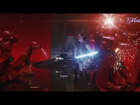 Star Wars The Last Jedi - Rey and Kylo vs Praetorian Guards II Best Scenes II Mathil TV