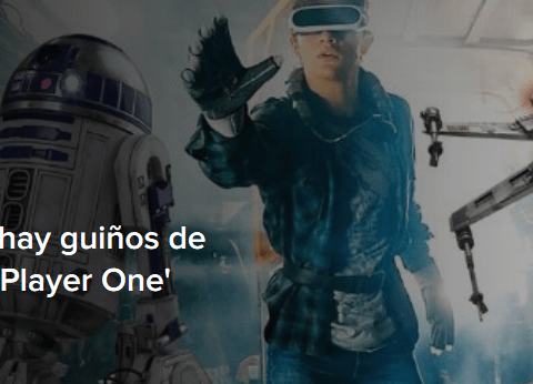 Spielberg revela que hay guiños de 'Star Wars' en 'Ready Player One'