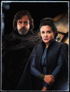 Star Wars The Last Jedi Characters Digital Art 11