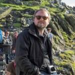 RIAN JOHNSON DIRECTOR ON SET 8