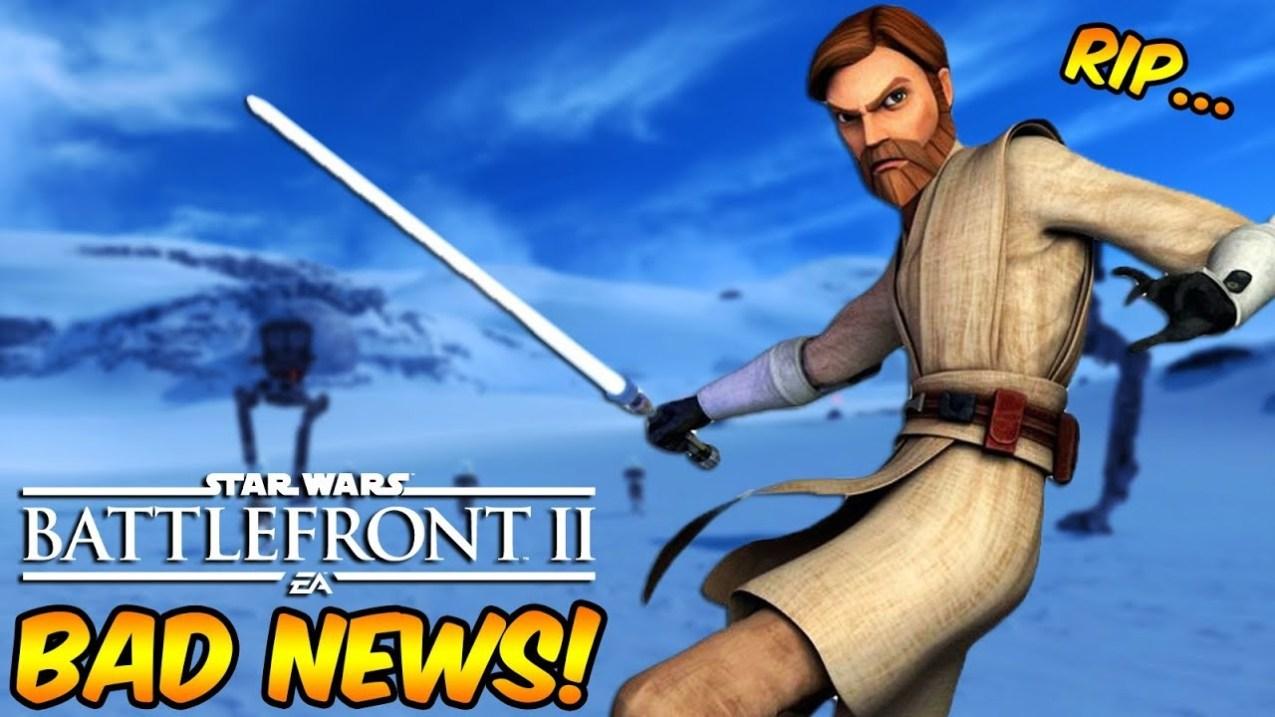 Star Wars Battlefront 2 - Bad Obi-Wan Kenobi News!