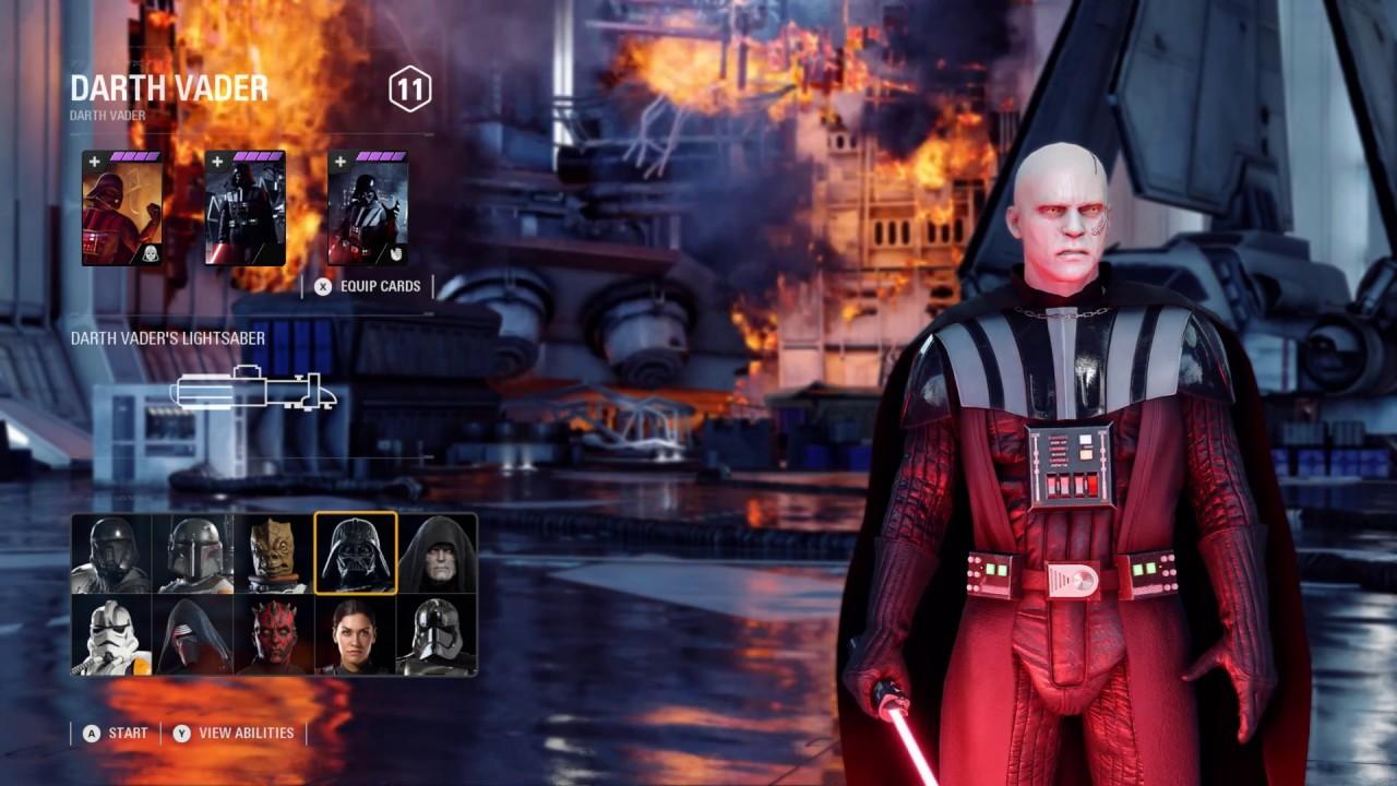 VADER WITHOUT HELMET MOD - Star Wars Battlefront 2