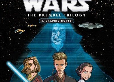 A graphic novel collection that retells The Phantom Menace, Attack of the Clones, and Revenge of the Sith.