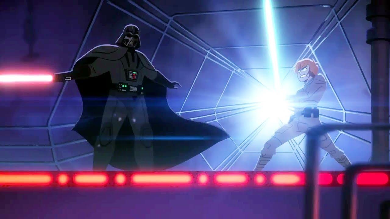 Luke Skywalker Vs Darth Vader Star Wars Galaxy Of Adventures