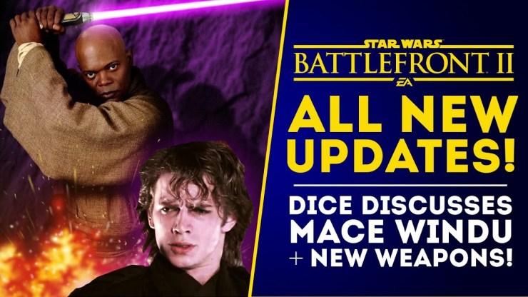 NEW UPDATES: Dice Replies About Mace Windu - Star Wars Battlefront II Update