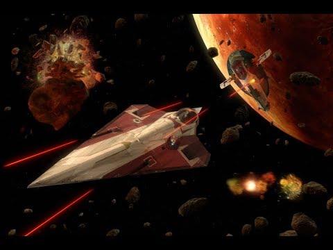 Star Wars Attack of the Clones - Obi-Wan VS Jango Fett (Dogfight over Geonosis) (1080p)