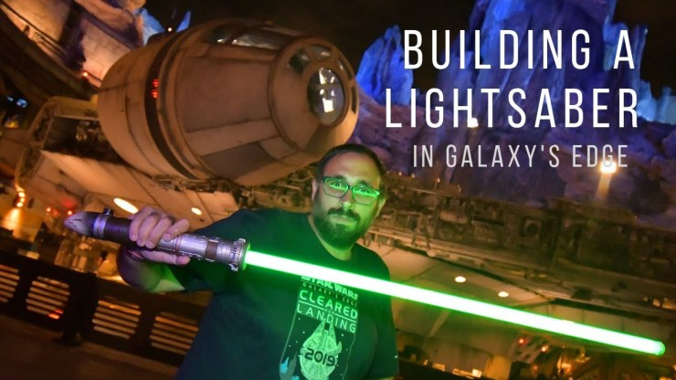Building a Lightsaber in Star Wars Galaxy's Edge is AMAZING!
