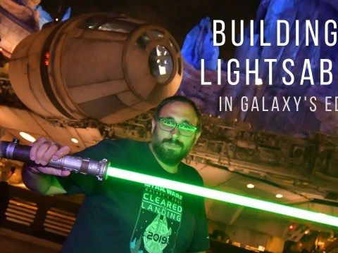 Building a Lightsaber in Star Wars Galaxy's Edge is AMAZING! 2