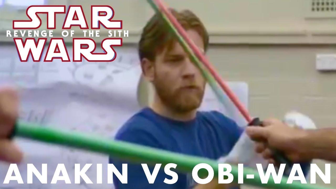 Revenge Of The Sith Anakin Vs Obi Wan Behind The Scenes