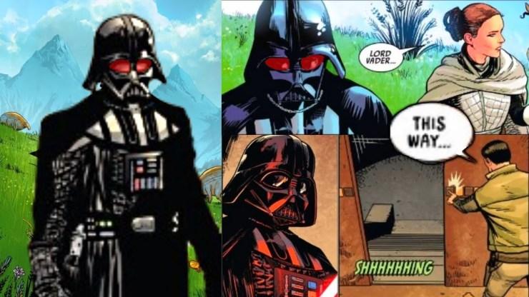 Darth Vader finds a secret door to Padme's grave on Naboo 1