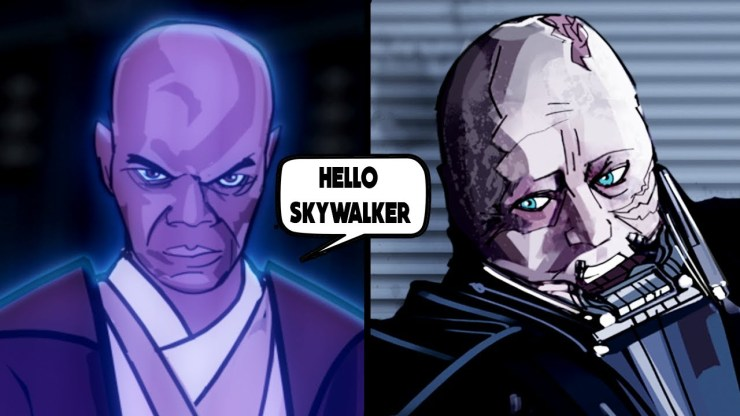 Mace Windu's Ghost Visits Vader - Once Upon a Theory