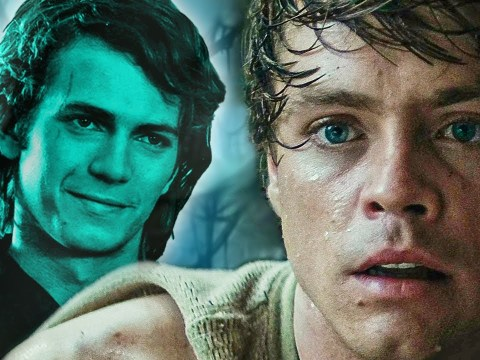 Anakin's Ghost Visits Luke and Yoda on Dagobah - Star Wars