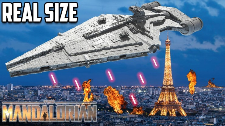 The REAL SIZE of Star Wars ships: The Mandalorian