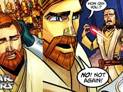 Battle Droids Forced Obi-Wan to Watch Qui-Gon's Death again
