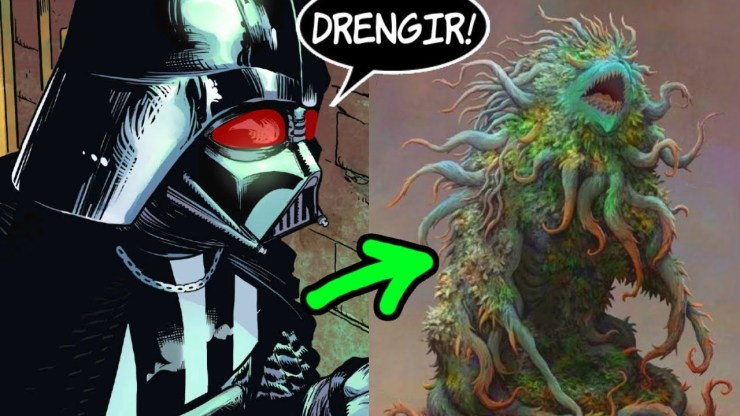 Darth Vader Meets A New Monster On Exegol (DRENGIR)