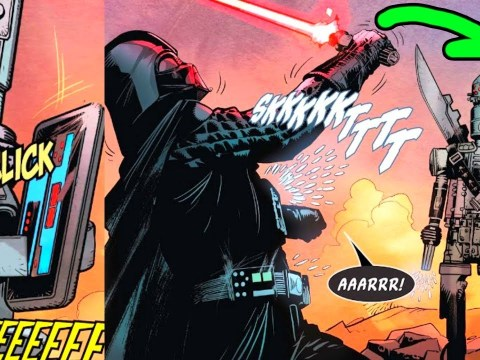 DARTH VADER'S HAND GETS HACKED BY IG-88 (CANON)