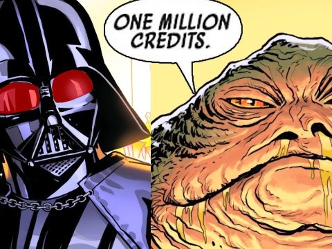 JABBA DEMANDS VADER PAY UP ONE MILLION CREDITS