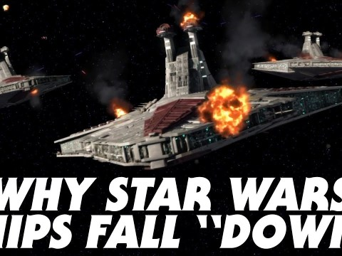 """Why Ships Fall """"Down"""" in Star Wars Regardless of Gravity"""