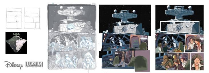 fumetti italiani di Star Wars Piana layout ESB