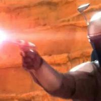 "Jango Fett in ""Star Wars: Episode II - Attack of the Clones"""