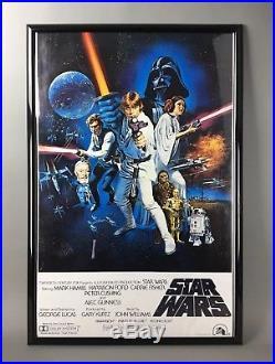 vintage star wars 1977 original movie poster litho ptw 531 star wars poster original