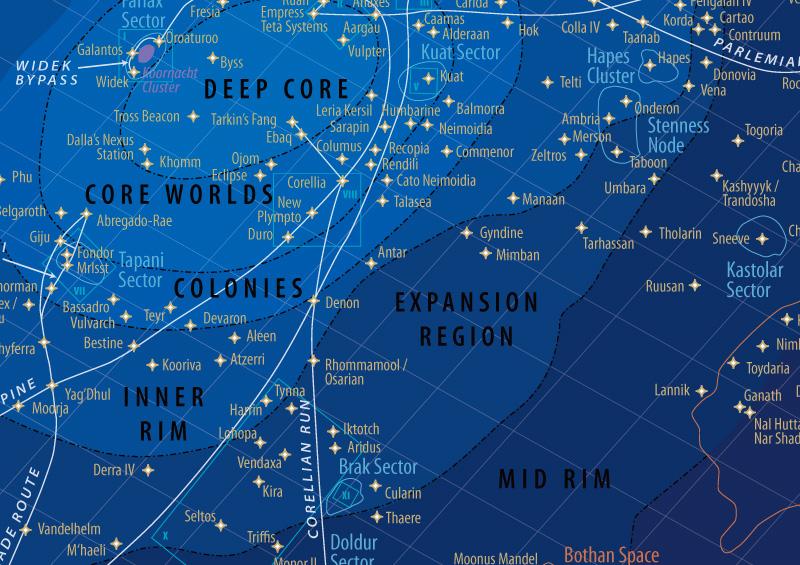 Galactic Map Star Wars Redux