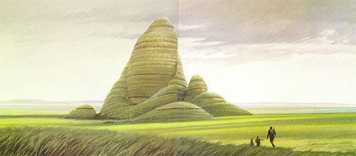 Alderaan concept art, eventually used for Lothal