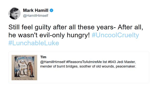 Mark Hamill on Twitter