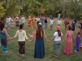 Pagan ritual circle