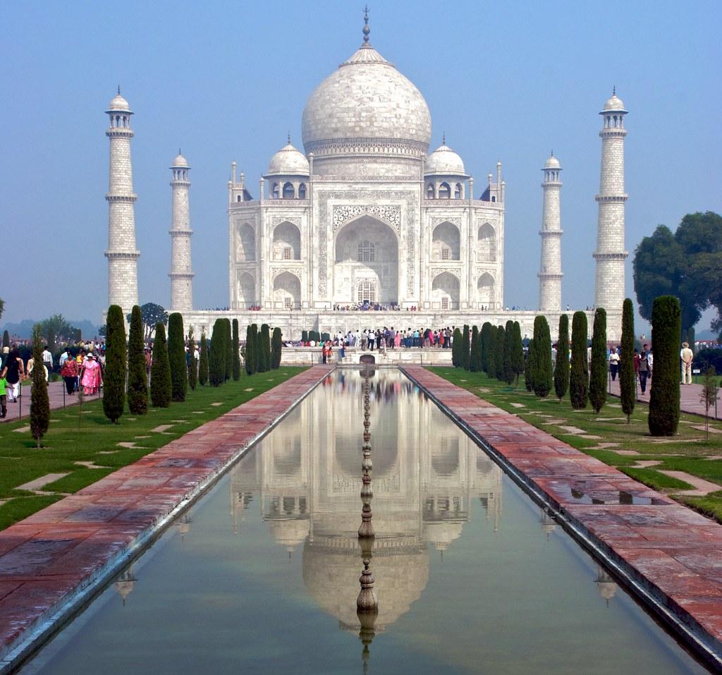 At the Taj Mahal in Agra, Rajastan, India