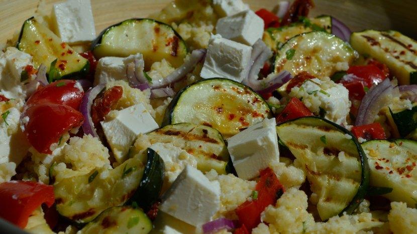 kasza jaglana z grillowanymi warzywami