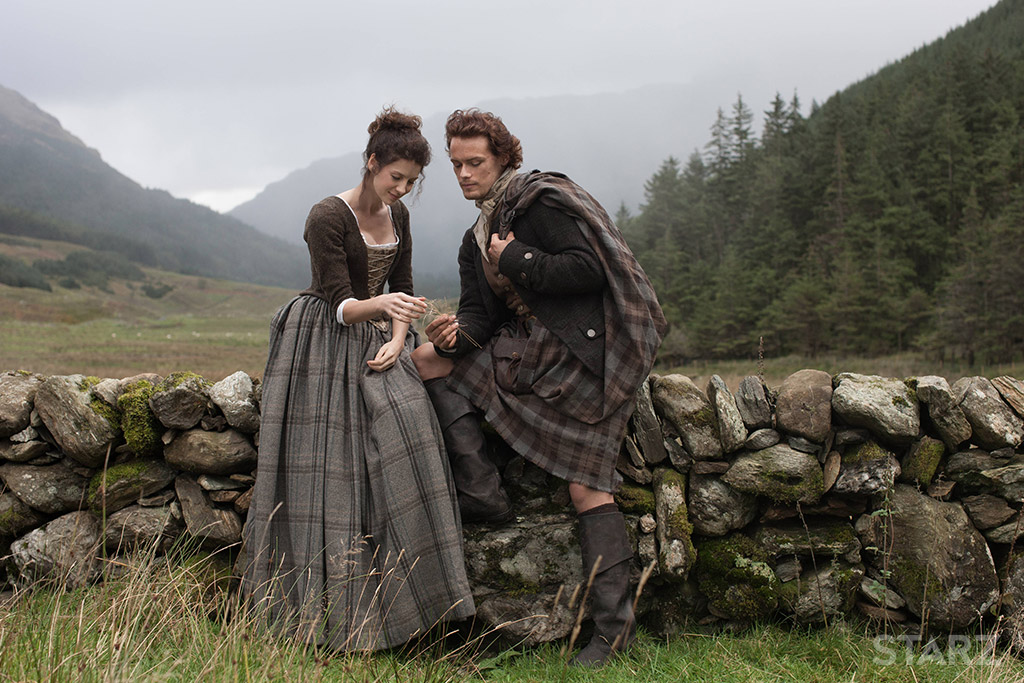 claire and jamie fraser of starz's outlander