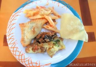 4 key food groups: pasta, corn, pastry, potatoes