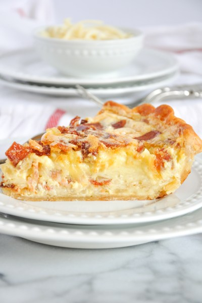 Quiche Lorraine With Bacon, Swiss & Gruyère