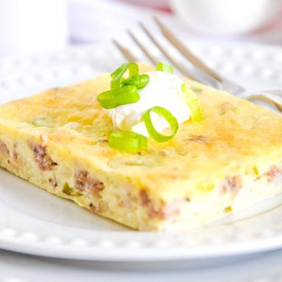 Sausage & Scallion Egg Puff