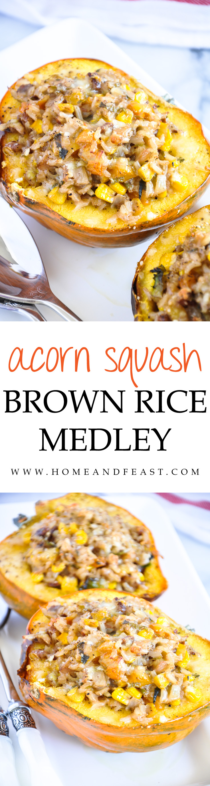 Roasted Acorn Squash With Brown Rice Medley