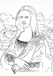 名画の塗り絵(大人の塗り絵)~モナリザ塗り絵(無料)完成