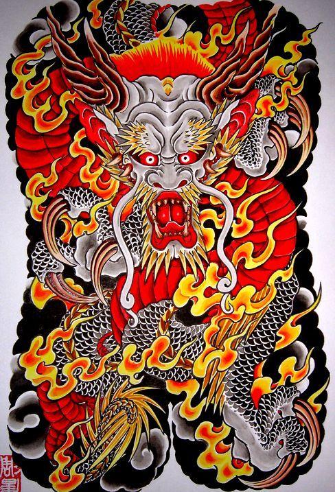 正面龍 | 刺青彫師 彫昇のブログ / 和彫りと日常な日記
