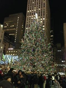 N.Y.に恋して☆-Rockefeller center Christmas tree