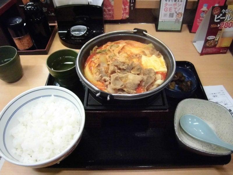 吉野家 新登場!牛チゲ鍋膳食べてみました   湘南オヤジのブログ